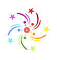 colorful firework explosion vector image