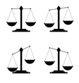 judge icon in black color vector image
