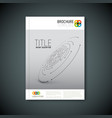 modern abstract brochure template vector image
