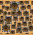 musical speaker seamless pattern vector image