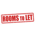 rooms to let sign or stamp vector image
