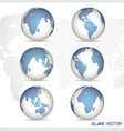 Set of modern Globe vector image