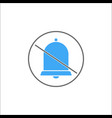 soundless and mute solid icon mobile sign vector image