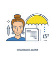 concept of insurance agent vector image