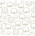 seamless pattern with cotton bolls stylized vector image