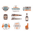 fathers day badges labels collection holiday vector image