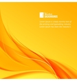 Orange smoke on yellow background vector image