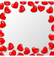 heart shaped bead frame vector image