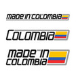 made in colombia vector image