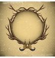 Vintage roses card with deer antlers vector image vector image