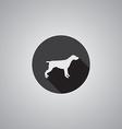 dog symbol flat vector image