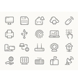 Network Communication and Electronics Line Icons vector image vector image