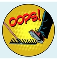 To step on a rake Failure and problems pop art vector image vector image