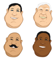 male heads fat vector image vector image