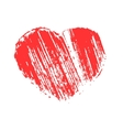 Heart carelessly painted with paint on paper vector image