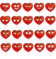 Red Valentine balloon smiles set vector image vector image