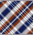 diagonal tartan seamless texture in blue and vector image