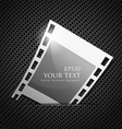 Empty silver camera film roll vector image
