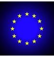 European Union EU flag vector image