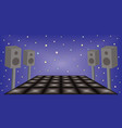 futuristic dance night party space vector image