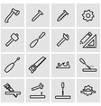 line carpentry icon set vector image
