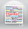 Many thanks in differenr languages on board vector image