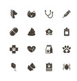 pet vet - flat icons vector image