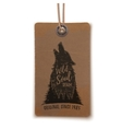 Price tag with howling wolf vector image