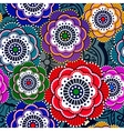 Seamless pattern with abstract flowers EPS 10 vector image
