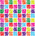seamless pattern with dashed squares vector image