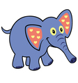 simple childish elephant vector image