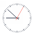 Simple classic clock vector image