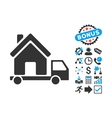 Mobile House Flat Icon with Bonus vector image