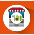 avocado online shopping app vector image