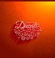 beautiful diwali greeting background vector image