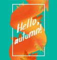 hello autumn poster template can be used for tag vector image