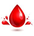 blood drop red drop vector image vector image