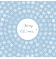 Delicate Merry Christmas Greeting Card with Words vector image vector image