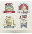 set of christmas emblems and designs vector image