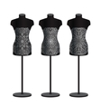 Mannequins for clothes on a white background set vector image