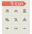 helmet and hat icon set vector image