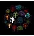 Trees collection sketch for your design vector image vector image