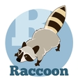 ABC Cartoon Raccoon2 vector image