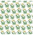Watercolor dandelion herbs seamless pattern vector image