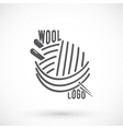 Wool and needle symbol vector image