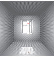 Room and butterfly vector image