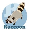 ABC Cartoon Raccoon2 vector image
