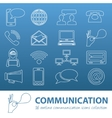 communication outline icons vector image