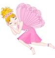Cute fairy in pink dress is sleeping eps 10 vector image