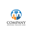 people business logo vector image